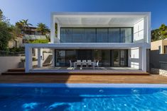 Contemporary two-story house located in Haifa, Israel, designed in 2017 by Saab Architects.