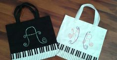 Hand-Painted Personalized Piano Tote Bags by MySouthernHeartsCo