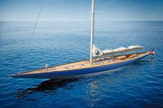 """A collaboration between Sparkman & Stephens and England's Spirit Yachts, this """"Super J"""" is adapted from the plans for Ranger, which defended the America's Cup in 1937."""