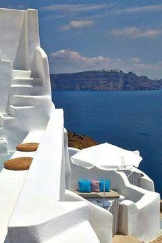 Caldera in Santorini, Cyclades, Greece