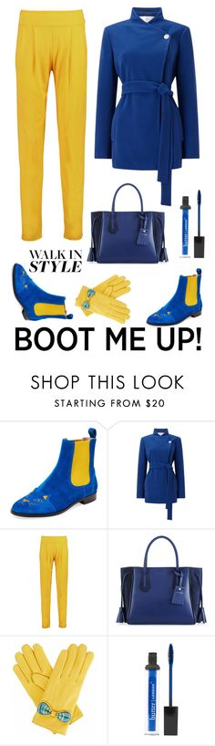 """""""Walk in style"""" by pamela-802 ❤ liked on Polyvore featuring Charlotte Olympia, Jacques Vert, Balmain, Longchamp, Gizelle Renee, Butter London and chelseaboots"""