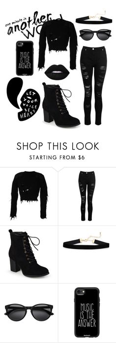 """""""All Black"""" by kitty-cat130 ❤ liked on Polyvore featuring adidas Originals, Dorothy Perkins, Journee Collection and Casetify"""