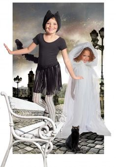 Keep it classic with a #cat or #ghost costume.