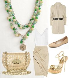 Our beautiful Copa Necklace is the perfect enhancement to this chic little outfit!
