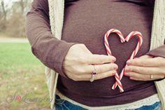 Holiday maternity photo