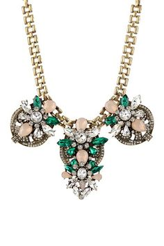 Medallion Emerald Green Necklace by t+j Designs on @HauteLook