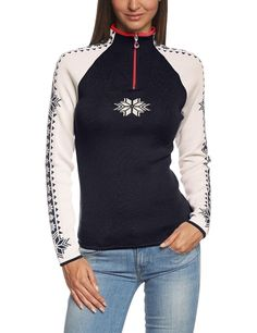 DALE OF NORWAY GEILO WOMEN'S NORWEGIAN WOOL PULLOVER SWEATER. DALE OF NORWAY GEILO FEMININE SWEATER. A sporty, feminine Dale of Norway Norwegian wool pullover sweater design with bold colors, contrast zippers, piped edging and reverse colored sleeves for a fresh look.   eBay!