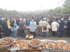 武汉高校湖内捕鱼两万斤 学生凭票免费吃鱼块_图片频道_央视网(cctv.com)