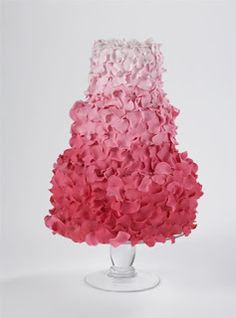#Pink #wedding #Cakes ombrewww.finditforweddings.com