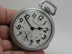 If you are looking for a historical classic Hamilton Pocket Watch this could be it! These are rare timepieces and again a very rare find and again in just excellent condition.