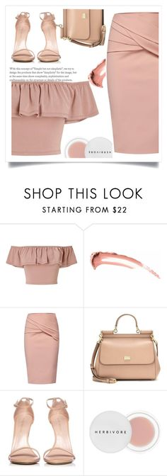 """""""Two Ghosts"""" by shahystyle ❤ liked on Polyvore featuring Miss Selfridge, WtR, Dolce&Gabbana, Stuart Weitzman and Herbivore"""