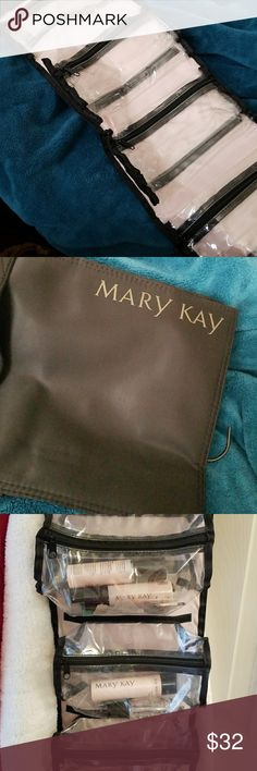 Roll up bag Roll up bag great for cosmetics, hair stuff, travel organizer, kids small stuff. Each small bag zips closed and Velcros on. Great to grab and go. Hangs on back of any door. Rolls up for easy packing. Mary Kay Bags Totes