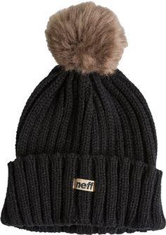 winter must have.  http://www.swell.com/Beanies-Scarves-Gloves/NEFF-FURZ-POM-BEANIE?cs=BL