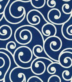Outdoor Fabric-Better Homes & Garden Ornament Navy