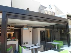 Gibus Group, leader in the production of awnings and pergolas for sun protection and energy saving Restaurant, Country, Outdoor Decor, Furniture, Home Decor, Rome, Decoration Home, Rural Area, Room Decor
