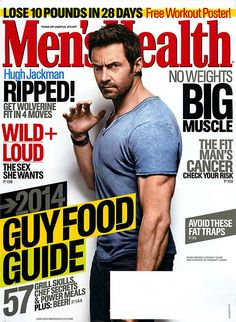 Hugh Jackman Gets Naked in 'X-Men: Days of Future Past'!: Photo Hugh Jackman strikes a classic Wolverine pose on the cover of Men's Health magazine's June 2014 issue, on newsstands now. Here's what the X-Men:… Men's Health Magazine, Fitness Magazine, Cover Boy, Workout Posters, Big Muscles, Losing 10 Pounds, Hugh Jackman, Health Quotes, Hot Guys