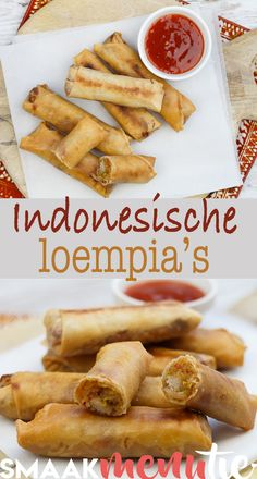 Indonesische loempia's #recept #recipe #loempia #snack #indonesia #indonesianfood Good Food, Yummy Food, Caribbean Recipes, Indonesian Food, Different Recipes, International Recipes, No Cook Meals, I Foods, Asian Recipes