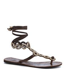 Brown (Brown) Laidback London Dylan Tan Leather Cut Out Wrap Flip Flops    275596020   New Look