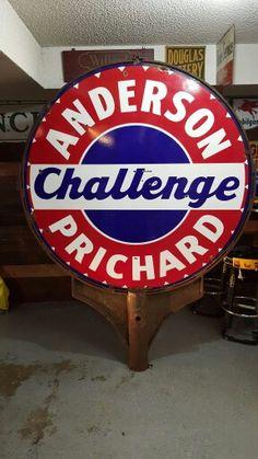 Rare Anderson Prichard Gasoline Porcelain Sign