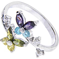 Sterling Silver 925 Cubic Zirconia BUTTERFLY Toe Ring #bodycandy #toerings #butterfly