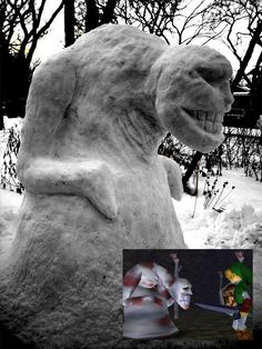 Dead Hand snowman, creepy!