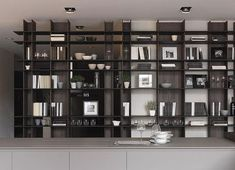 15 Bookcase Designs for Living Room - decoratop Storage Design, Shelf Design, Cabinet Design, Cabinet Shelving, Ceiling Design, Living Room Interior, Interior Design Inspiration, Showroom, Living Room Designs