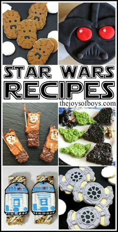 Star Wars Rezept Ideen für den coolen Kindergeburtstag *** Can you imagine how excited your kids would be to make these Star Wars Recipes? Some of these are so easy and would be perfect for a Star Wars Party!