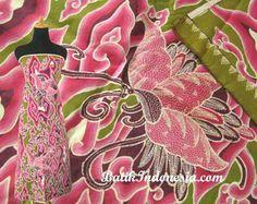 Batik Tulis(hand-painted) Kupu-Kupu Pink(pink butterfly) from  Cirebon Java. Gorgeous !