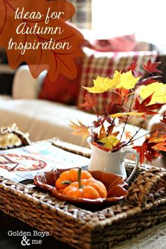 Lots of ideas for autumn inspiration www.goldenboysandme.com