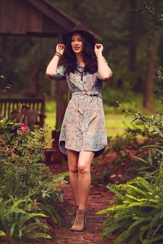 Tried And True Shirtwaist Batik Dress