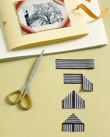 ribbons to photo corners #embellishments