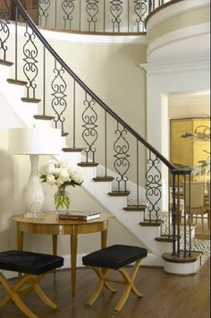 fancy stair railings that are not too much