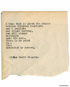 Typewriter Series #1849 by Tyler Knott Gregson