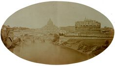 Rome, Castel S. Angelo and the River Tiber 1860 (ca) Albumen print