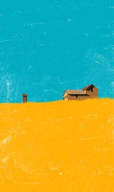 Нарисованные дома для уютного настроения