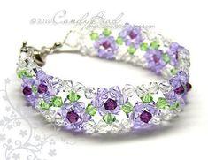 Pulsera cristalina pulsera de Swarovski rosa púrpura por candybead