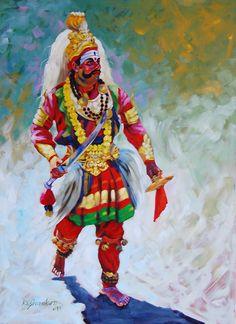Buy Kade Kade Rudra artwork number a famous painting by an Indian Artist K. Indian Art Ideas offer contemporary and modern art at reasonable price. Indian Folk Art, Indian Artist, Scratchboard Art, India Painting, Shiva Art, Lord Shiva Painting, Meditation Art, India Art, Indian Art Paintings