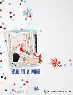 Hug in a Mug by ScatteredConfetti // #scrapbooking #pinkfreshstudio #decemberdays