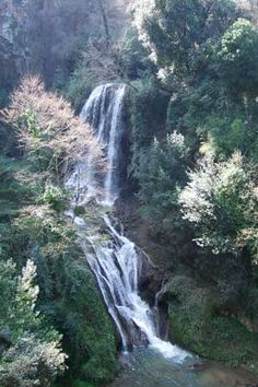 One of several waterfalls in the valley, Villa Gregoriana