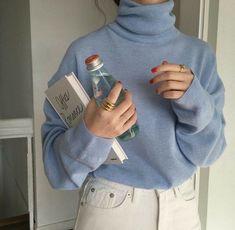Light Blue Aesthetic, Blue Aesthetic Pastel, Ropa Color Pastel, Pastel Blue, Look Fashion, Korean Fashion, Fashion Outfits, Fashion Books, Fashion Women