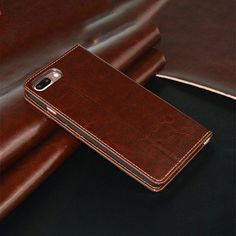 Fancy | Orange Leather iPhone Wallet Case