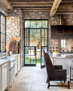 60 Stunning French Country Kitchen Decor Ideas Now it appears right at home. If you're sharing your house with others, Rustic French Country, French Country Kitchens, Country Decor, French Countryside, Country Style, Rustic Style, Home Decor Kitchen, Kitchen Design, Kitchen Ideas