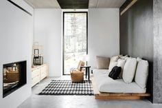 meubles en palettes, intérieur scandinave