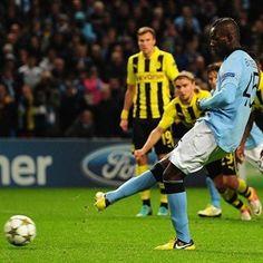 Mario Balotelli, Man. City.   Man. City 1-1 Borussia. 03.10.12.