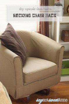 Ikea Ektorp Tullsta Rocking Chair Hack & How To Turn IKEAu0027s Tullsta Chair Into a Designer Piece | Decoration ...
