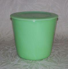 "Jadite - Round Storage Container (5 3/4"") McKee - For sale on Ruby Lane $ 65 #jadite #rubylane"