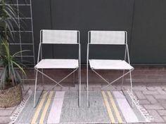 2x gaaf vintage Pilastro stoeltje, jr. 60 stoel retro wit