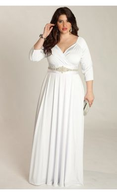 Curvety wedding dress
