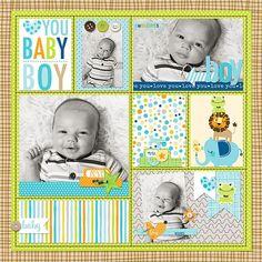 Bella Blvd Cute Baby Boy digital collection. Baby Boy digital layout by creative team member Krista Lund.