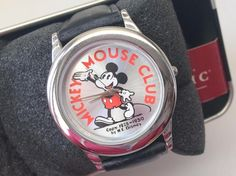 Love the classic Mickey Mouse character? Our Disney Auctions Mickey Mouse Club Watch was fashioned after the original 1930 Mickey design, offered in an Exclusive Ltd Ed of only 100. Comes with Certificate of Authenticiy, leather band, new in box.